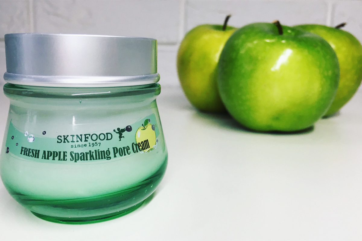 Moje perypetie ze SKINFOOD FRESH APPLE Sparkling Pore Cream