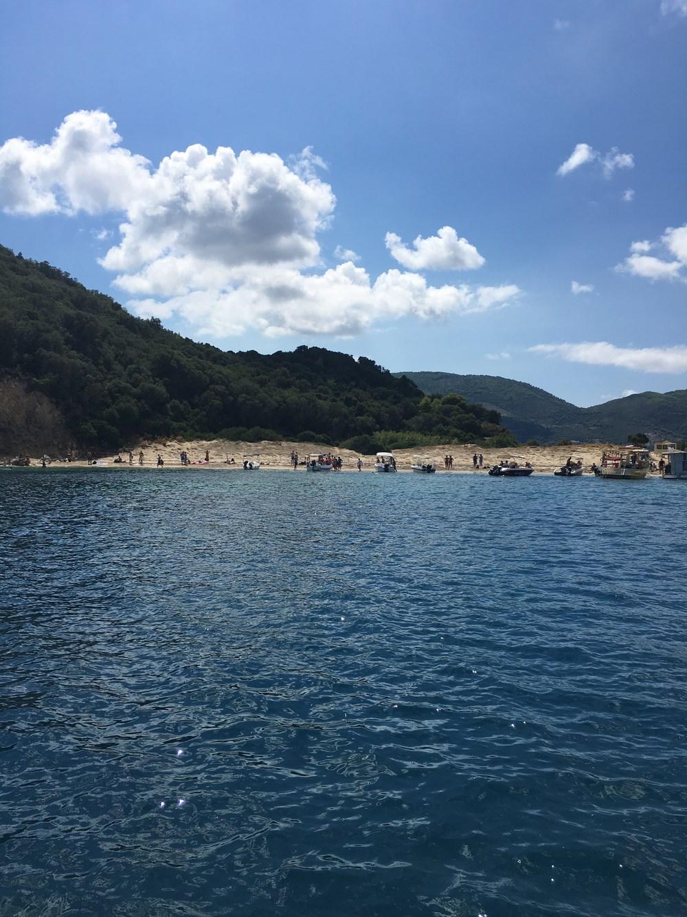 Plaża na Marathonisi