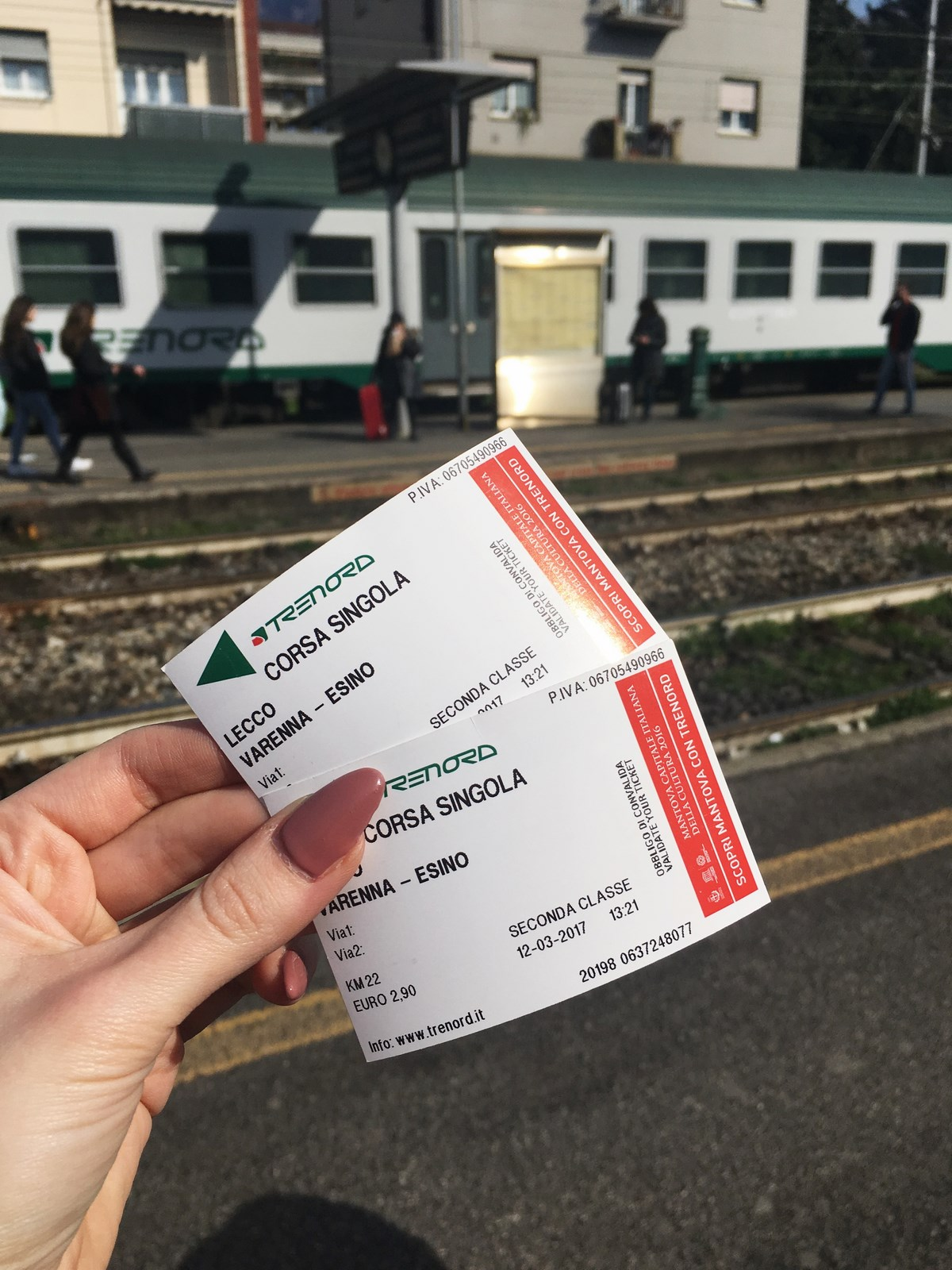 Podróżowanie pociągiem po Włoszech