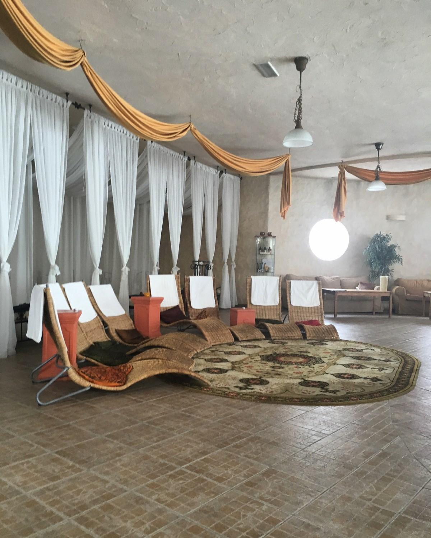 Urodziny w SPA Azzun - taras wypoczynkowy